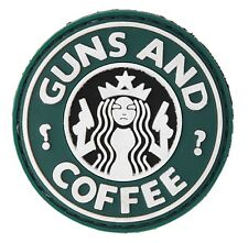 """AC-110J: Tactical ARMY """"GUNS AND COFFEE"""" PVC PATCH (no tracking number)"""