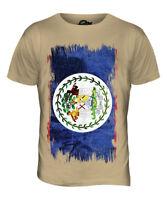 BELIZE GRUNGE FLAG MENS T-SHIRT TEE TOP BELIZEAN SHIRT FOOTBALL JERSEY GIFT