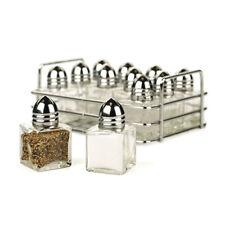 12pc Salt Pepper Shaker Rack Set Seasoning Spice Storage Bottle Chrome Hold