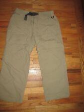The North Face Khaki Lightweight Travel Easy On Off Zip Pants Men's Lg PG47