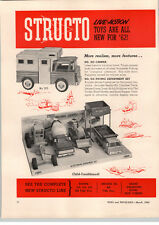 1962 PAPER AD 2 PG Structo Toy Camper #203 916 Paving Department 196 School Bus