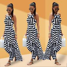 UK Womens Long Maxi Dress Prom Evening Party Summer Beach Boho Holiday Dresses