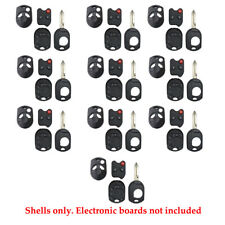 Remote Control Head Key Fob Case Shell 3B Fit For Ford Rubber Pad H75 (10 Pack)