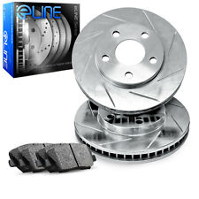 2004-2010 Toyota Sienna Front eLine Slotted Brake Disc Rotors & Ceramic Pads