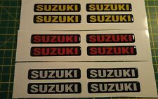 SUZUKI 3D DOMED BADGE STICKER GRAPHIC DECAL MOTORBIKE MX ENDURO CAR SUPERBIKE