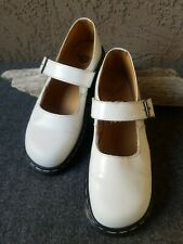 Vtg/Original Womens DR/DOC MARTENS MARY JANES White Patent Leather US Sz 9 UK 7