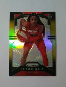 2020 Panini WNBA Prizm Chennedy Carter Rookie RC Black Gold Refractor 4/5