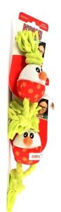 2 Count Kong Dots & Daisies Squeaking X-Small Egg Durable Rope Tug & Fetch Toy