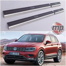VW Tiguan 2015> TDI Stainless Steel Kick Plate Car Door Sill Protectors 4pce Set