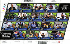 New Zealand 2016 MNH Rio Olympics Medal Winners Sailing Rowing 18v M/S Stamps