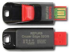 SanDisk SDCZ51-032G 32GB Cruzer Edge USB Black Red Flash Drive 32 GB SDCZ51 32G