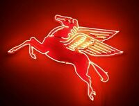 "New Pegasus Flying Horse Neon Sign 42"" Mobil Oil Brand New"