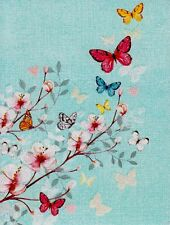 Butterflies Blue White Red Yellow Butterflie Blank Note Card With Envelope