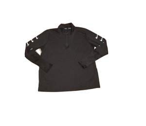 Nike Running Dri-FIT Check Sleeve Quarter Zip   Women's Extra Large XL   Black
