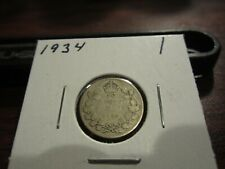 1934 - Canada 10 cent - Canadian silver dime -