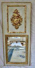 Trumeau Mirror Gold Leaf Gilt with Shield Crest