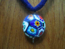 Kette Halskette Armband ♥ Filzschmuck Merinowolle Blau Handarbeit Murano Perle