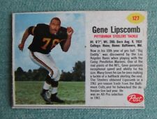 1962 POST CEREAL NFL FOOTBALL GENE LIPSCOMB #127 PITTSBURGH STEELERS CARD