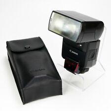 Canon 430EZ Speedlite Shoe Mount Flash For Canon EOS w/ Case - Tested Works Good