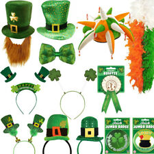 ST PATRICKS DAY PARTY IRISH HEADBAND Patrick TIE FANCY DRESS Headbopper Badge