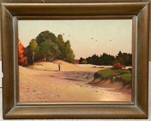 Original RICHARD CLARKE HARE 'Painted Desert, Maine' FREEPORT Painting - Listed