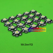 100PCS 3W cold White High Power LED Emitter 30000K with 20mm Star pcb