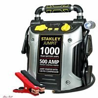 Jump Starter With Air Compressor Auto Battery Charger Car 12v Power Portable USB