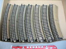 AH737-2# 35x Märklin H0/00 Gleisstück (M-Gleis gebogen) f. 3600/800/Mittelleiter