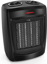 HOME_CHOICE Personal Ceramic Space Heater Electric Heater with Adjustable Th..w