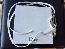 $$$ NEW WITH TAGS AUTHENTIC DIOR HOMME LEATHER/COTTON  SKINNY WHITE SUSPENDERS.