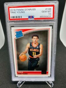 2018-19 PANINI DONRUSS Rated Rookie TRAE YOUNG PSA 10 RC ATLANTA HAWKS