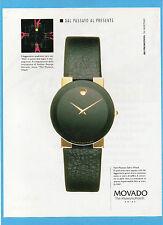 BELLEU997-PUBBLICITA'/ADVERTISING-1997- MOVADO THE MUSEUM WATCH