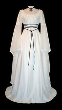 Medieval Renaissance Women Victorian Gothic  Flare Sleeve Retro Dress Cosplay