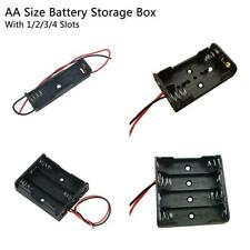 Battery Holder Box Storage Case open/closed switch 1x 2x 3x 4 Cells HOT!!