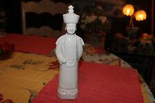 Interesting Asian Chinese Ceramic Porcelain Statue Emperor Religious Man-#2-Wht.