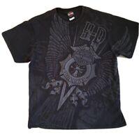 Harley-Davidson Mens Firefighter T-Shirt Size large black- grey VGC