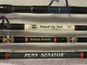 Penn USA Tuna Stick Senator Stand Up Slammer + Custom 4 Big Game Salt Water Rods