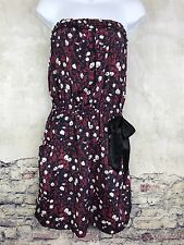 Urban Outfitters Staring at stars strapless dress Red White Blue Pockets Med #F