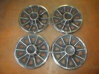 """1965 65 Pontiac Tempest Hubcap Rim Wheel Cover Hub Cap 14"""" OEM USED AB7 SET 4"""