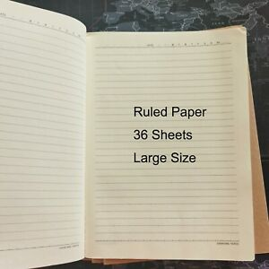 [5 Pack] Notebook, Brown color cover Contains 36 Sheets Paper / Book