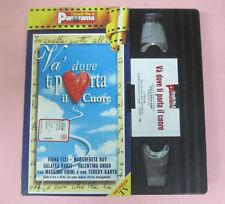 VHS film VA DOVE TI PORTA IL CUORE Virna Lisi Margherita Buy PANORAMA(F39)no*dvd