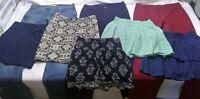 Jeans women size 4-6 bottom mixed lot 8 wholesale pants skirt tommy hilfiger x56