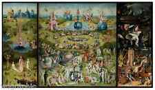 The Garden of Earthly Delights Hieronymus Bosch Poster or Canvas Print 36X20