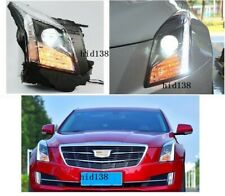For 2013-2018 Cadillac ATS Headlights LED DRL And  HID Bi-xenon Projector 1pair