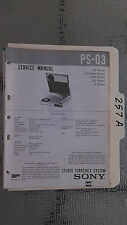 Sony ps-q3 service manual original repair book stereo turntable record player