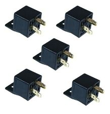 5 x 4 Pin 12v 30A AUTO RELAYS For Aux Lights Horns etc Car Boat Van Motorbike