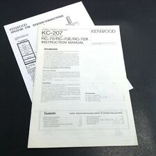 KENWOOD KC-207 Original Stereo Amplifier Instruction Manual System Connections