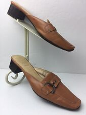 Joan and David Circa Comfort 365 Womens Brown Mules Pumps Shoes Size 7 Leather