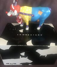 "Collectible Cow Parade ""Clown in life"" excellent condition w/ original box"