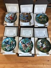 Edwin Knowles Plates~ Birds Of Your Garden ~ Set Of 6 ~W/Original Boxes And Coa